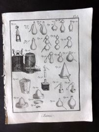 Diderot 1780's Antique Print. Chimie 08 Chemistry